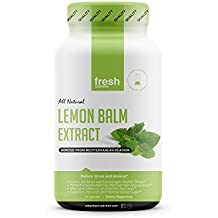 Lemon Balm Extract Capsules - Strongest 600mg Servings at Launch Price -Calms, Improves Skin, Sleep, Memory, Alertness, Anxiety, Stress, Appetite, Indigestion & Blood Sugar Levels-Powerful Antioxidant