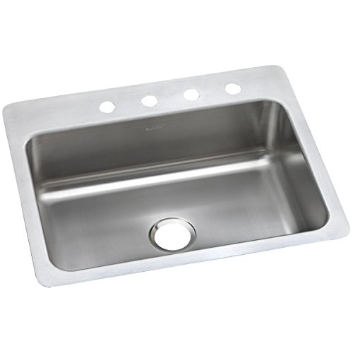 - Elkay DSESR127221 Dayton Single Bowl Dual Mount Stainless Steel Sink