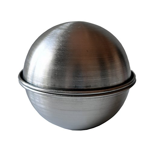 BATH BOMB MOLD to Make Your Own DIY, Lush, Fizzy, Bath Bombs, Stainless Steel, Metal Bath Bomb Mold to Make Your Own Bath Bomb Recipes, or use it as a Cake Mold 2.50""