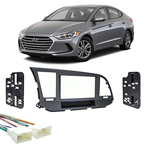 Fits Hyundai Elantra 2017-2018 Double DIN Stereo Harness Radio Install Dash Kit