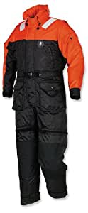 Mustang Survival Deluxe Anti-Exposure Coverall and Worksuit, Orange/Black, X-Small