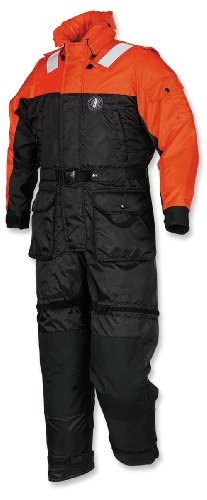 Mustang Survival Deluxe Anti-Exposure Coverall and Worksuit, Orange/Black, X-Large
