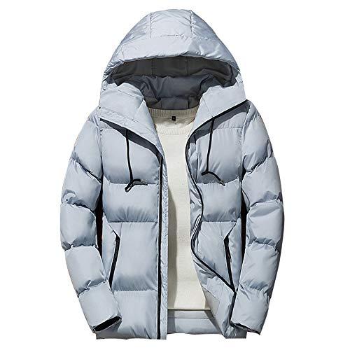 (Realdo Mens Coat Clearance Sale, Winter Solid Zipper Hoodie Down Parka Coat Outwear)