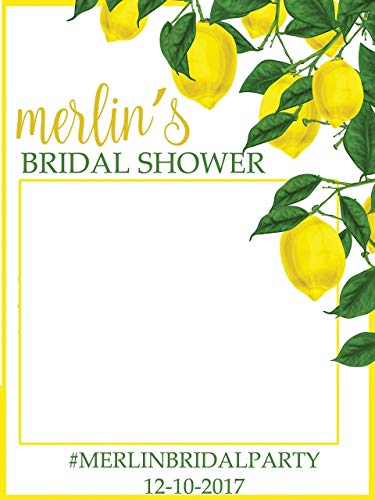 Custom Lemon Bridal Shower Photo Booth Frame - Sizes 36x24, 48x36; Lemon theme wedding, Lemon Tree Photo Prop, Bridal Shower Photo booth frame, Selfie Frame, Handmade Party Supply Photo Booth -