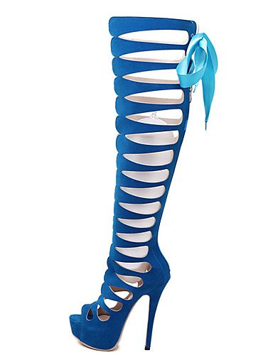 us8 black blue Tacones eu39 Tac¨®n 5 Vell¨®n eu39 uk6 de Negro us6 cn40 black light 5 mujer eu36 Tacones ZQ Stiletto Azul Zapatos uk4 cn40 5 5 cn36 Casual us8 uk6 ntUwq7wX