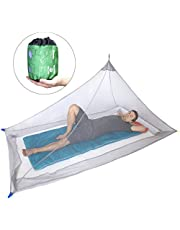 Dimples Excel Mosquito Net for Single Camping Bed (Grey)