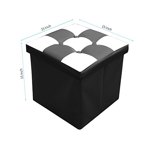 Rusee Collapsible 15 Quot Cube Faux Leather Folding Square