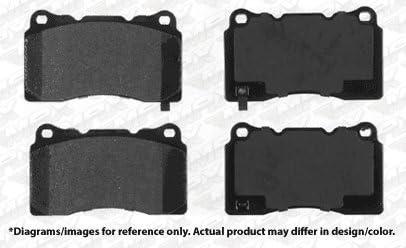 Max Brakes Front /& Rear Premium XD Rotors and Ceramic Pads Brake Kit KT147523-5