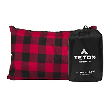 TETON Sports Camp Pillow Perfect for Camping and Travel; Ultralight Pillow; Black