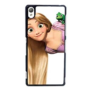 Sony Xperia Z3 Cell Phone Case Black Disney Tangled Character Rapunzel ST1YL6769029