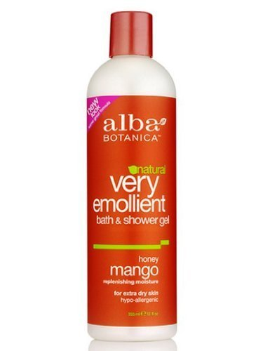 Alba Botanica Very Emollient Bath & Shower Gel, Honey Mango, 2 Pack (Illuminating Perfecting Pressed Powder)