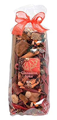 Ten Waterloo Potpourri Cinnamon Spice Oil Scented Bowl and Vase Filler - Holiday and Christmas Decorating