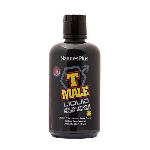 Natures Plus Ultra T Male Liquid - 30 fl oz, Fast Acting - Natural Testosterone Booster for Men, Muscle Gain, Sexual Health - Vegan, Vegetarian, Gluten Free - 30 Servings