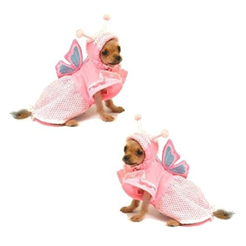 Dog Costume Lady Butterfly Costumes Princess Bug Insect Dogs Wear by Defonia Petsupplies