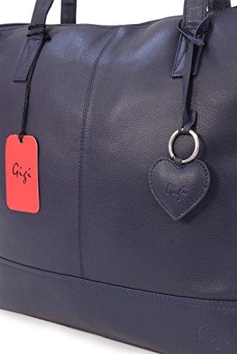 Blue Othello Leather 9101 Leather Othello Tote Tote Bag Navy Bag Navy Gigi Gigi 9101 Blue YAdqwadr