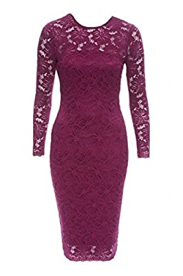 AX Paris Women's Lace Bodycon Midi Dress