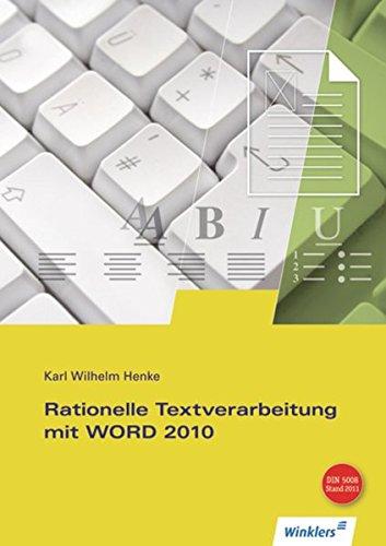 Rationelle Textverarbeitung mit WORD 2010: Schülerband