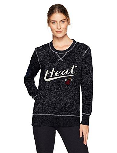 (NBA Miami Heat Women's Ots Seneca Crew Neck Pullover, Medium, Jet Black)