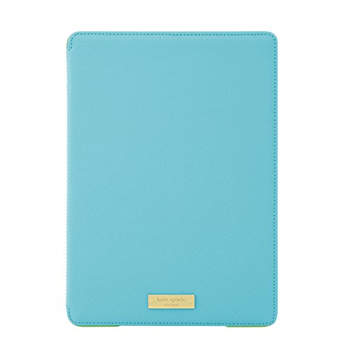 kate spade new york Designer Folio Hardcase [Shock Absorbing] for iPad Air 2, Saffiano Aqua (Ipad Air Case Kate Spade Folio)