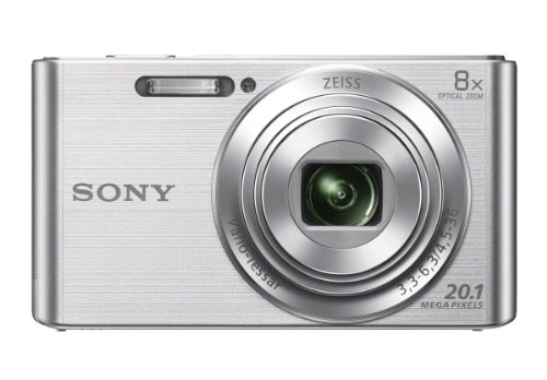 Sony DSCW830 20.1 MP Digital Camera with 2.7-Inch LCD (Silver) (Nikon Camera Point And Shot)