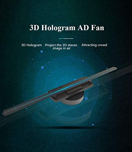 Holograma 3D Ventilador LED Wifi Proyector holográfico Pantalla Reproductor de publicidad holográfica Pantalla ancha completa Demostración del producto ADS Exposición Decoración Diseño Supermercado: Amazon.es: Deportes y aire libre