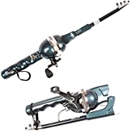 2 in 1 Mini Combo Fishing Rod Combined with Fishing Reel Foldable Telescopic Specially for Kids, Women and Boa