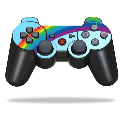 Protective Vinyl Skin Decal Skin Compatible with Sony Playstation 3 PS3 Controller wrap Sticker Skins Rainbow (Ps3 Controller Rainbow)