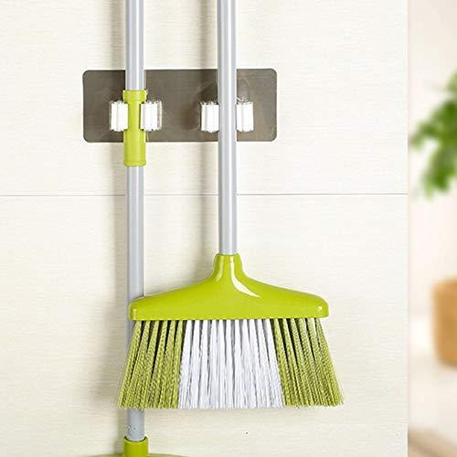 Heberry Wall Mounted Mop Organizer Holder Brush Broom Hanger Storage Rack Kitchen Tool