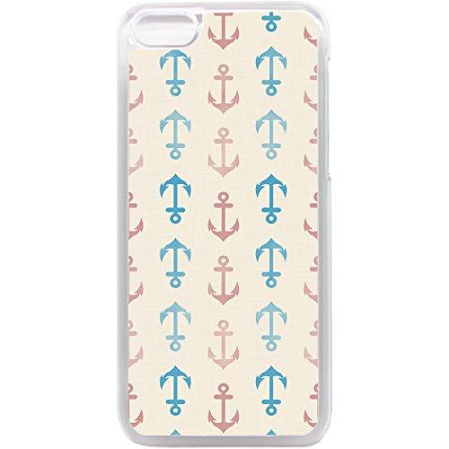 Retro-Telefon, Anker Muster Muscheln und Seesternen, für iPhone 5°C