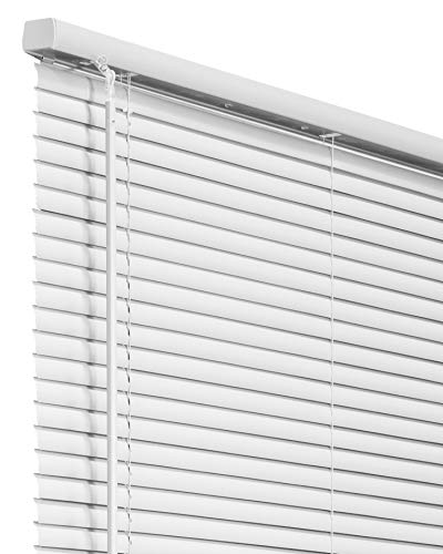 affordable Chicology Horizontal Venetian Slat Window Shade Cordless 1-Inch Mini Blinds 36