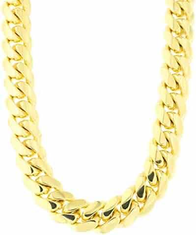 Men's 14k Yellow Gold Classic Miami Cuban Link Chain Necklace or Bracelet