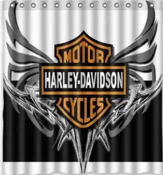 Amazon.com: Custom Harley Davidson Logo Pattern Waterproof Bathroom Shower  Curtain 100% Polyester Fabric Shower Curtain Standard Size 66 X 72: Home U0026  ...