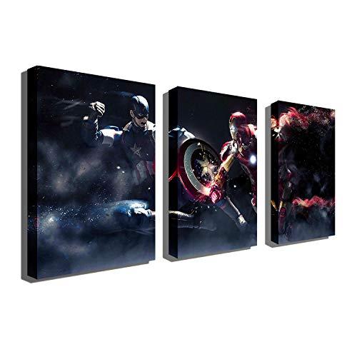 Marvel 마블 유화 Avengers2 내전 아이언 맨 캡틴 미국 히어로 배틀 장식 벽화 3매 (Series 1)