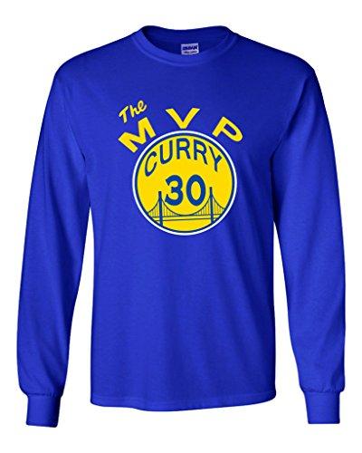 "Long Sleeve Steph Curry Golden State Warriors ""MVP"" T-Shirt YOUTH MEDIUM"
