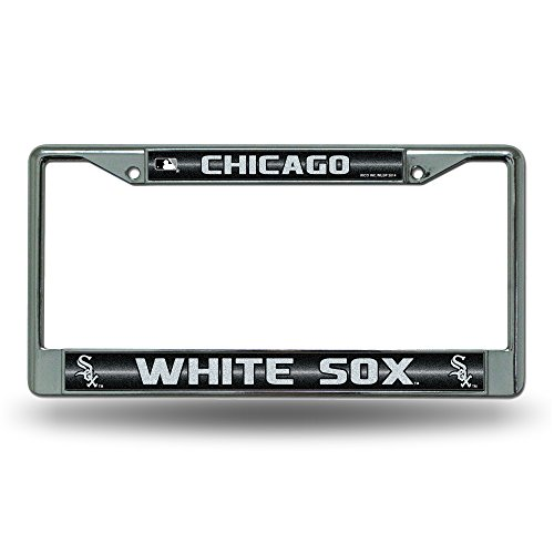 MLB Chicago White Sox Bling License Plate Frame, Chrome, 12 x 6-Inch Chicago White Sox Car
