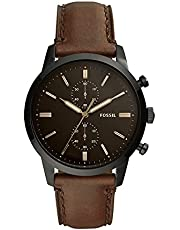 Fossil Men's Townsman Stainless Steel and Leather Casual Quartz Chronograph Watch