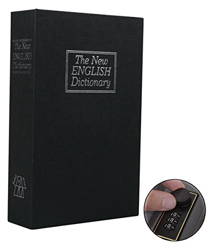 Safe Lock Box, Ohuhu Dictionary Diversion Book Safe with Combination Lock Mini Safe