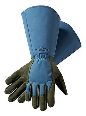 Safety Works 054B/XL West County Rose Gauntlet Glove, X-Large, Slate Blue