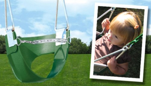 Belted Toddler Swing With Chain -