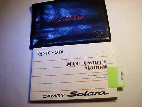 2000 toyota solara owners manual toyota amazon com books rh amazon com 2006 toyota solara service manual 2001 toyota solara owners manual