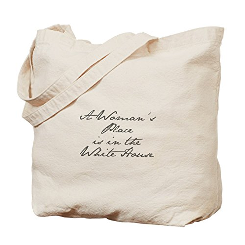 CafePress A Woman s Place is in the White House-Jan gray 400 Tote Bag - Standard by CafePress