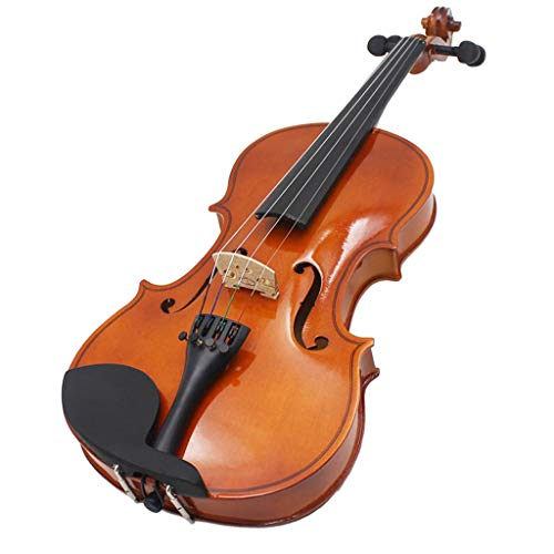 Baosity 4/4 Full Size Basswood Natural Color Wood Violin Fiddle Case Bow Rosin Set by Baosity