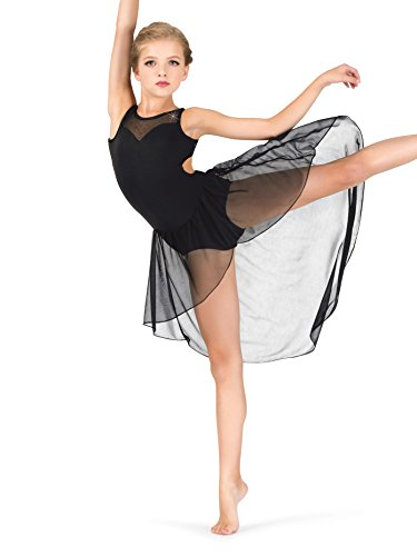 Girls Performance Twinkle Mesh High-Low Tank Dress TW315WHTI White Intermediate ()