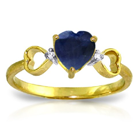 14k-Gold-Genuine-Diamonds-Heart-shaped-Natural-Sapphire-Ring