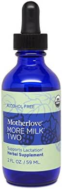 Motherlove - More Milk Two, Herbal Breastfeeding Supplement for Pregnant Nursing Moms, Natural Safe Lactation Support During Pregnancy, Alcohol-Free Vegetarian Liquid Tincture w/Organic Herbs, 2 oz