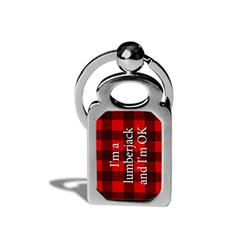 I'm a Lumberjack Monty Python Fan Keychain / - Python Keychain Monty