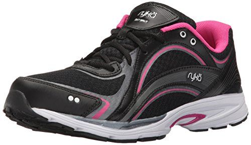 RYKA Women's Sky Walking Shoe, Black/Pink, 8 M US