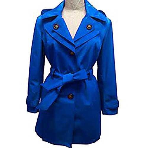 London Fog Ladies' Mini Trench Coat - Electric Blue, M