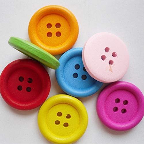 TGBZ 衣料品工芸スクラップブッククラフト用の木製ボタンをスクラップブッキング縫い目を縫製10個入り15ミリメートル20ミリメートル25ミリメートル装飾的な木のボタン (Size : 25mm)