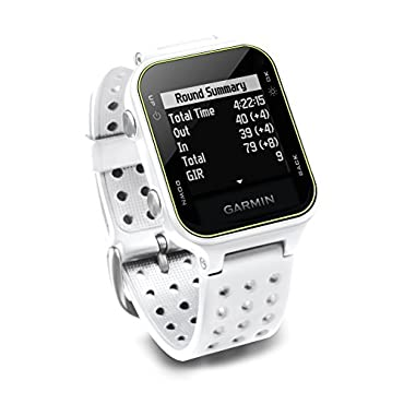 Garmin Approach S20, GPS Golf Watch with Step Tracking, Preloaded Courses, White